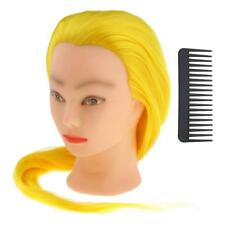 Salon Cosmetology Hairdressing Training Head Mannequin Synthetic long Hair