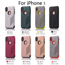 Shockproof Rubber Hybrid Armor Hard Protective Case Cover For Apple iPhone X