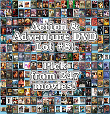Action & Adventure DVD Lot #8: 247 Movies to Pick From! Buy Multiple And Save!