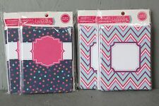 Craft Smith Blank Note Cards Personalize It! 12 Piece Pack Chevron or Polka Dot