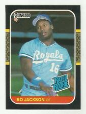 Bo Jackson 1987 DONRUSS BASEBALL RATED ROOKIE CARD #35 Royals White Sox NON AUTO