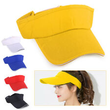 Men Women Snapback Visor Sun Plain Hat Golf Tennis Beach Sports Cap Adjustable
