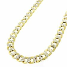 3MM 14K Yellow Gold Cuban Link Curb Chain Diamond Cut Necklace - 18-24 Inches