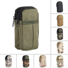 Military Double Layers Waist Pack Travel Pouch Cellphone Pouch Carrying Pouch