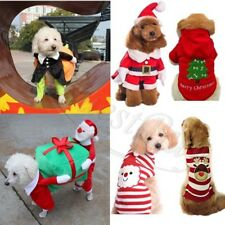 Funny Pet Dog Clothes Santa Claus Carrying Gif Box Costume Fancy Puppy Apparel