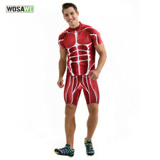 Muscle Men Cycling Jersey Shorts Set Bike Bicycle Outdoor Sports Clothing Suit