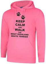 Keep Calm And Walk The West Highland White Terrier Unisex Hooded Sweatshirt Hood