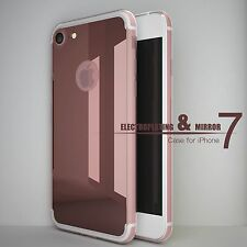 Mirror Back Rubber Crystal Clear Bumper Case Cover For iPhone USA Shipping