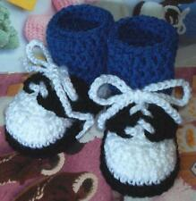 Boutique Crochet Saddle Oxfords Baby/Reborn Doll Booties