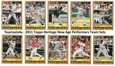 2011 Topps Heritage New Age Performers Baseball Set ** Pick Your Team **