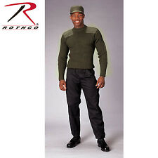 Rothco Government Type Wool Military Commando Sweater Black, Olive Drab  # 6359