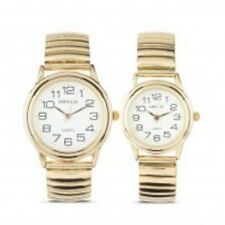 Stretch Watch Round Classic Gold Stretch Band Expander Watches - Small Med Large