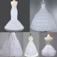 White Crinoline Petticoat Slips Underskirt Mermaid Hoop Bridal For Wedding Dress