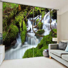 A Stepped Waterfall 3D Blockout Photo Curtain Print Curtains Fabric Kids Window