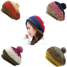 Fashion Women Crochet Beanie Wool Winter Fall Warm Cap Warm Knit Knitted Ski Hat