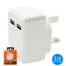2.1A Fast Charge USB Mains Charger Adapter for BlackBerry 9360 Curve