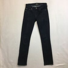 Seven 7 For All Mankind Kimmie Straight Leg Skinny Jeans Dark Wash Size 25