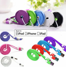 1m Flat Noodle USB Data Sync Charger Cable For iPhone 5 5S 5C 6 6S Plus 7 7S