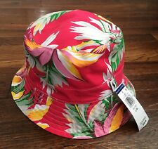 $40 NWT Polo Ralph Lauren Mens Pink Red Floral Tropical Bucket Hat 2 Sizes