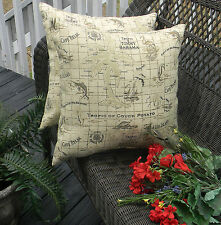 2 Pk Throw Zipper Pillow Cover Tommy Bahama Home Fabric Indoor Outdoor Nautical