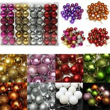 24Pc Christmas Balls Hanger Baubles Xmas Tree Ornament Christmas Decoration Gift