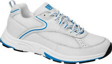 Flare - Drew Shoe - Diabetic Shoes - White with Blue - Leather - Extra Depth