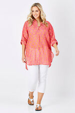 NEW Naudic Womens Tunics Weekend Botanical Tunic HotPink