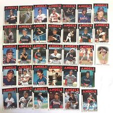 1986 Angels Topps Traded Baseball Cards California