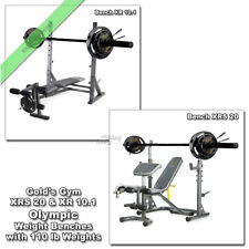 Gold Gym XR 10.1 , XRS 20 Olympic Bench Press Weight Lifting with 110 lb Weights
