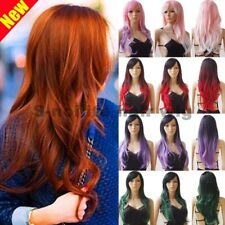 Women Full Wig Long Straight Curly Wavy Wig Cosplay Party Costume Ombre Hair bbf
