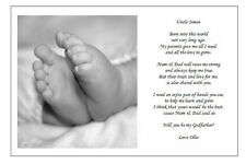 Personalised Christening Poem gift ASK GODPARENTS TO BE GODMOTHER GODFATHER