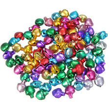 100XColorful Small Jingle Bell Findings Mixed 6mm/8mm/10mm Sew On Craft