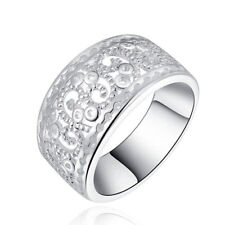 Silver Plated Wedding Ring Hollow Rings New Classic Jewelry Girls Elegent Women