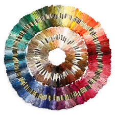 35/200pcs Cotton Floss Stitch Thread Embroidery Cross Stitch Sewing Skeins Hand