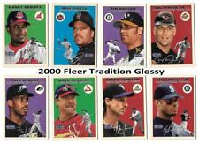 2000 Fleer Tradition Glossy (Tiffany) Baseball Team Sets ** Pick your Team **