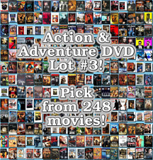 Action & Adventure DVD Lot #3: 248 Movies to Pick From! Buy Multiple And Save!