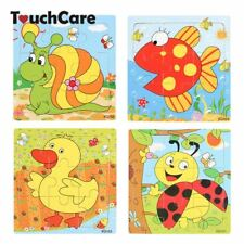 Cartoon Animal Wooden Puzzle Kids Educational Baby Toy Jigsaw