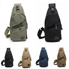 Men Canvas Travel Hiking Crossbody Messenger Shoulder Chest Bag Sling Backpack