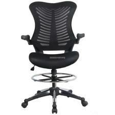 Ergonomic Adjustable Drafting Reception Office Stool-Chair with Armrests DKVP