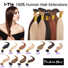 18~22inch 50g/100s 8A Remy Hair I-Tip Human Hair Extensions + Micro Beads