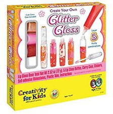1 X Creativity For Kids Make Your Own Lip Balm Glitter Gloss Make Up Kit X