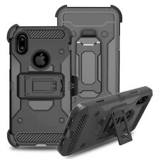 Armor Refined Impact Kickstand Belt Clip Holster Case Cover For Apple iPhone X