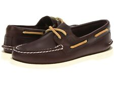 NEW Mens SPERRY TOP-SIDER Classic Brown White A/O AUTHENTIC ORIGINAL Boat Shoes