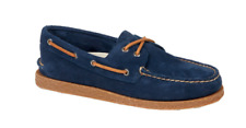 NEW Mens SPERRY TOP-SIDER Navy Suede Leather A/O AUTHENTIC ORIGINAL Boat Shoes