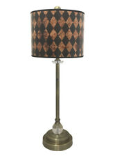 "Royal Designs 28"" Buffet Lamp with Vertical Black Diamond Hardback Lamp Shade"