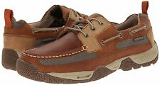 NEW Mens SPERRY TOP-SIDER Tan/Beige Brown Leather Mesh BOATYARD Boat Shoes