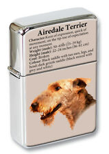 Airedale Terrier Flip Top Lighter in a Gift Tin