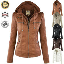 Womens Casual Slim Hooded Parka Coats Jacket Trench Warm Winter Fashionable
