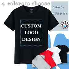 Men's Customized T-Shirts Printed Personalised Design Your Own Logo Short Sleeve