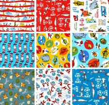 Dr. Seuss Robert Kaufman Celebrate Seuss Cotton Flannel Minky Fabric Remnants
